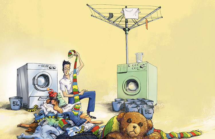 Расипана машина за перење  виц