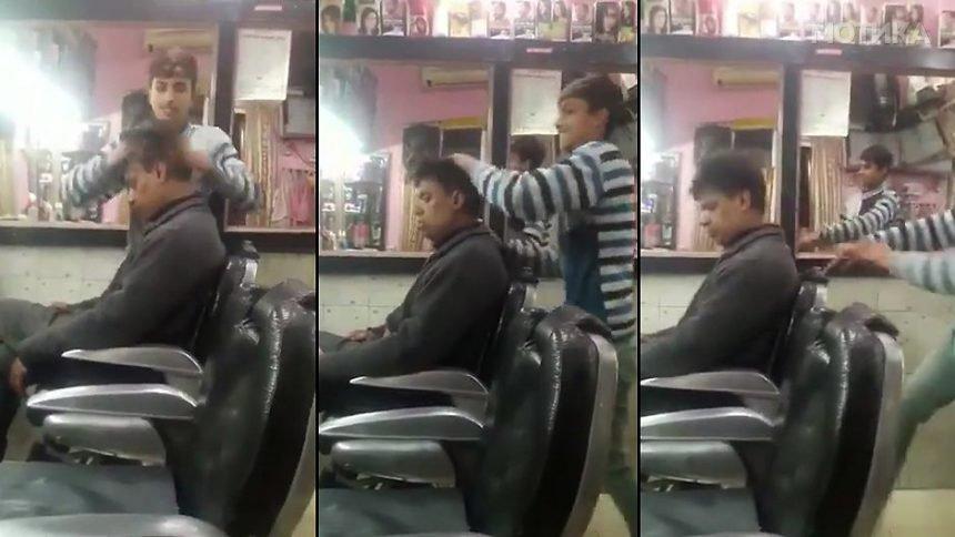 Кој е за една ритмично романтична масажа на глава  може да отиде на бербер во Индија