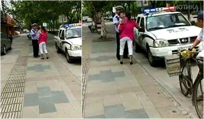 Идиотски шангајски полицаец против мајка со мало дете