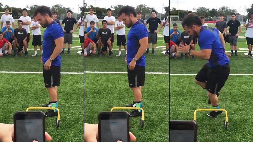 Фудбалер со неверојатна брзина во нозете