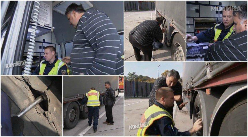 Како македонски камионџија се справува со германски полицаец  Целата случка одела на германска ТВ емисија