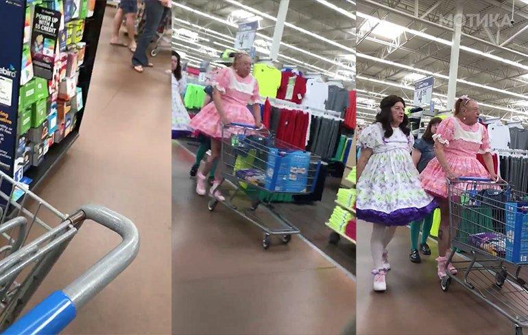 Три принцези на шопинг во супермаркет во Америка