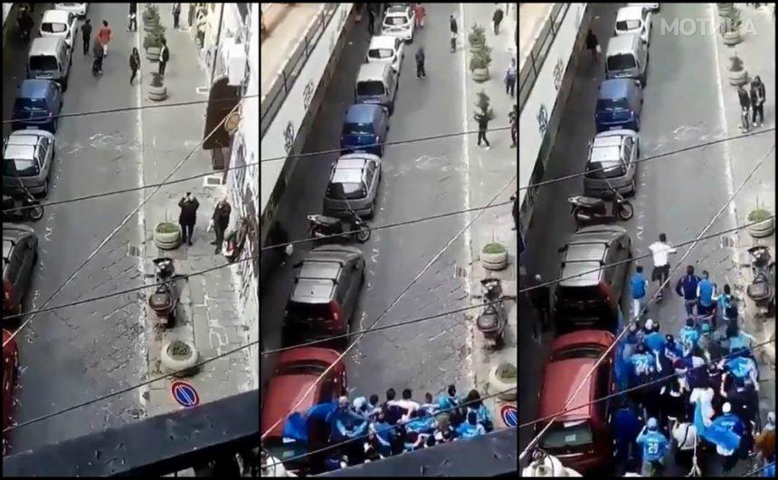 Никој не очекуваше вака жесток судир на навивачите на Наполи и Јувентус во тесна уличка